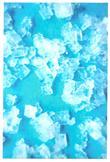 Image of Léčivý obrázek s krystaly z diamantové vody - tyrkysový 10x15 cm
